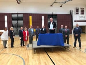 Governor Murphy Signs Chapter 78 Relief Bill at UHS