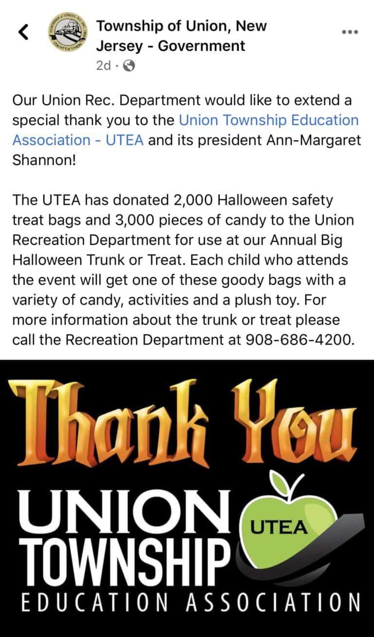 Union Rec Department Thanks the UTEA